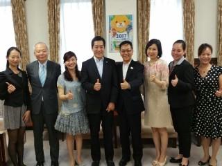 (台灣)亞太國際溫泉旅遊協會周水美理事長拜訪愛媛縣中村時廣知事